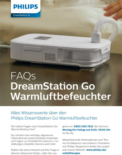 Philips DreamStation Go Befeuchter FAQ