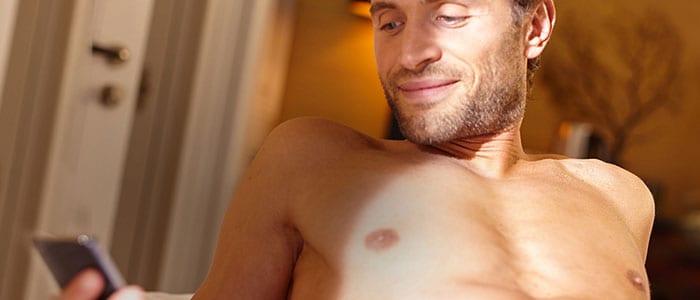 Brust mann haare auf der haare auf