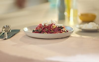 Beetroot fettuccine recipe
