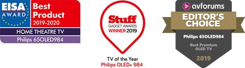 Philips OLED+ 934 EISA Award Best Home Theater TV – Stuff TV des Jahres – Bester Premium OLED-TV