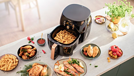 Philips Airfryer XXL mit Smart Sensing Technologie HD9860/90